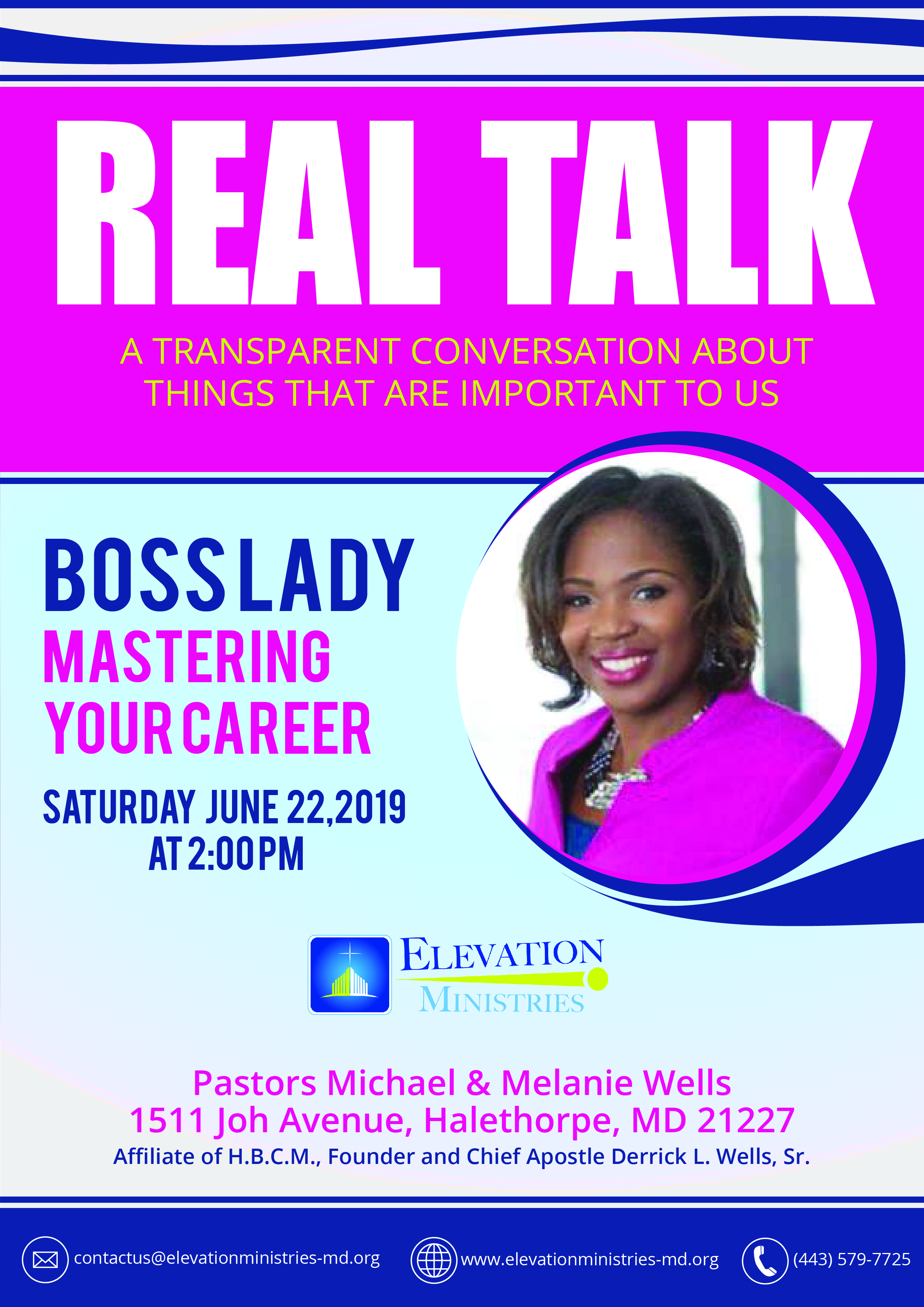 Real Talk Boss Lady Mastering Your Career Saturday June 22, 2019 at 2:00 PM – Archived